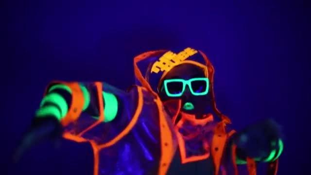 Dancing Neon Man - Stock Video | Motion Array