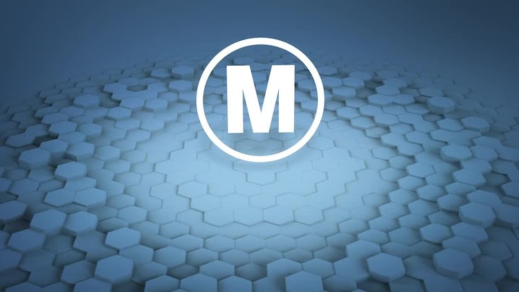 Hexagon Wave Logo Reveal: After Effects Templates