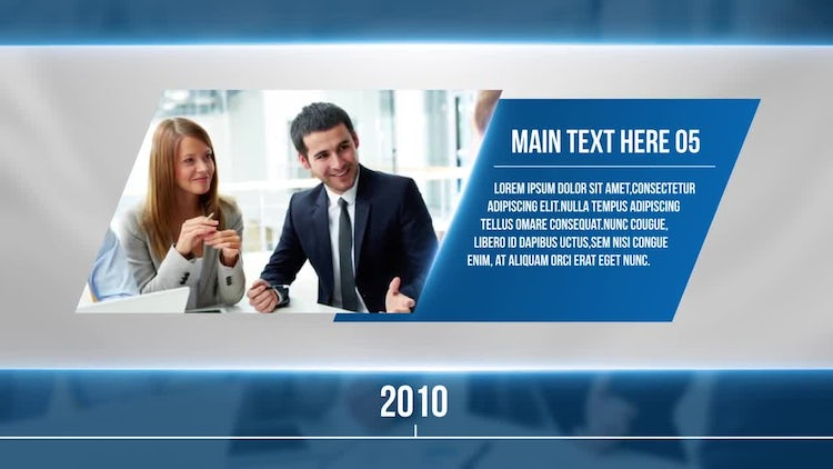 Corporate Timeline Slideshow: After Effects Templates