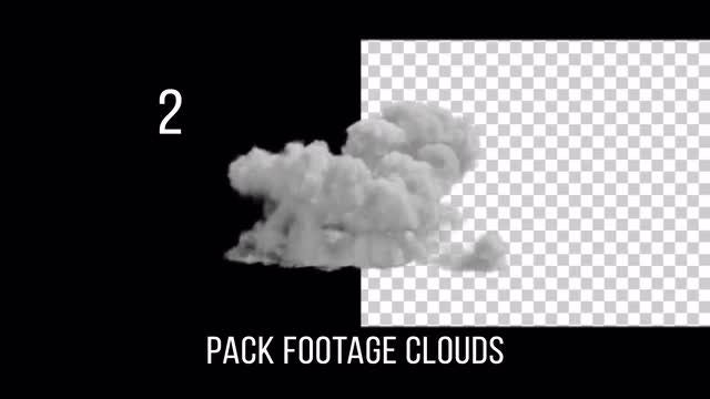 Cloud Footage Pack With Alpha Channel: Stock Motion Graphics