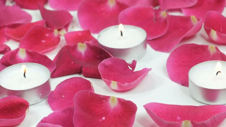 Candles And Rose Petals: Stock Video