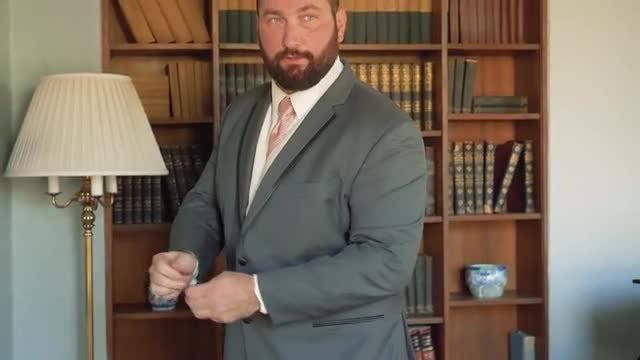 Groom Adjusts Sleeves: Stock Video