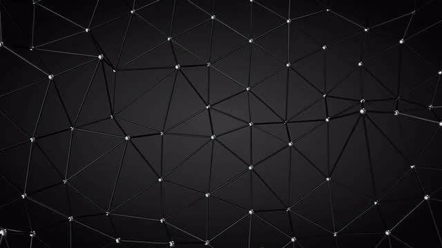 Black Background Abstract Structure: Stock Motion Graphics