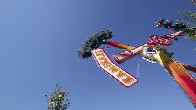 Amusement Park Ride: Stock Video