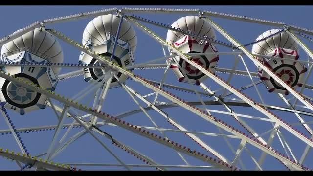 Ferris Wheel Close Up: Stock Video