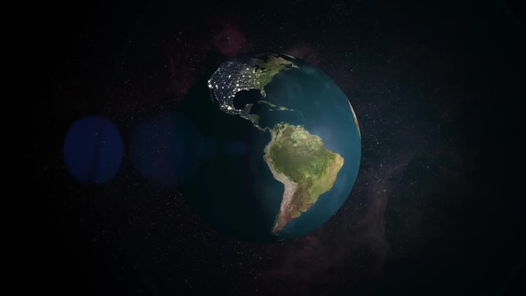 Earth Day Night: Stock Motion Graphics