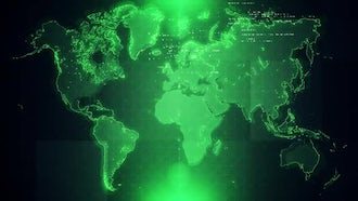 4K Green Map Background Loop: Motion Graphics