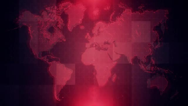 4K Red Map Background Loop: Stock Motion Graphics