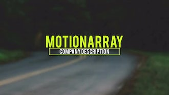 Kinetic Corporate Titles: After Effects Templates