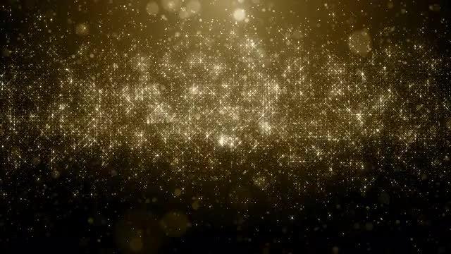 Metallic Gold Particles Rain Loop: Stock Motion Graphics