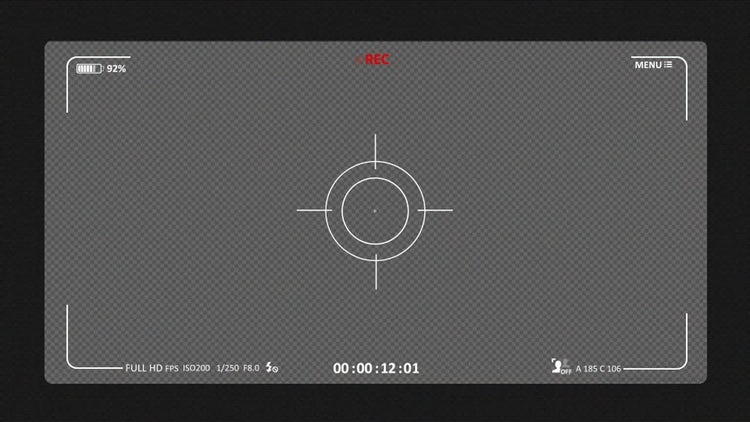 Camera Recording Screen 03: Stock Motion Graphics