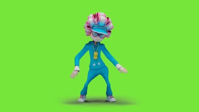 Cartoon Woman Dancing Hiphop: Stock Motion Graphics
