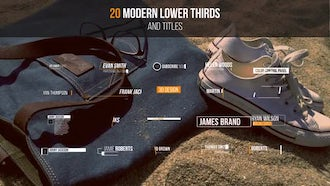 20 Modern Lower Thirds & Titles: After Effects Templates