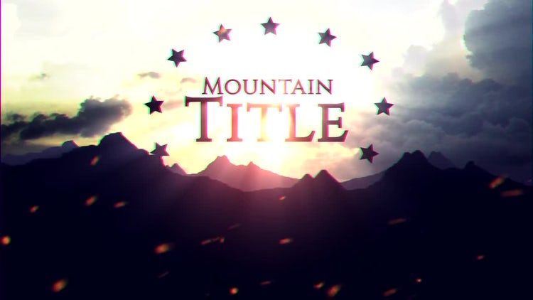 Mountain Title: After Effects Templates
