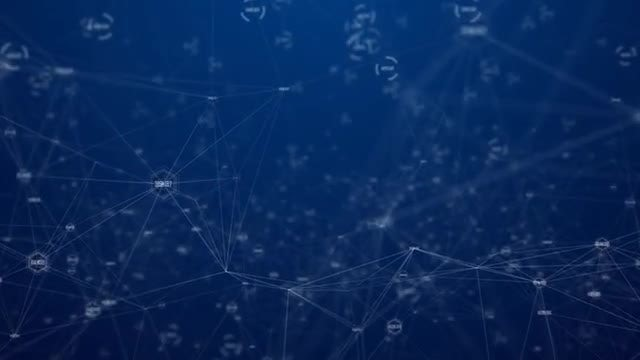 Digital Data Connection Background: Stock Motion Graphics