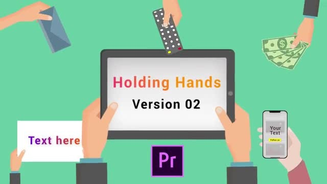 Animated Holding Hands V2: Motion Graphics Templates