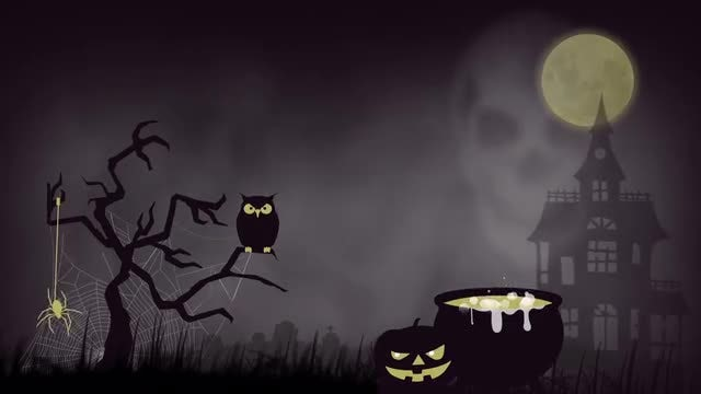 Halloween Background: Stock Motion Graphics