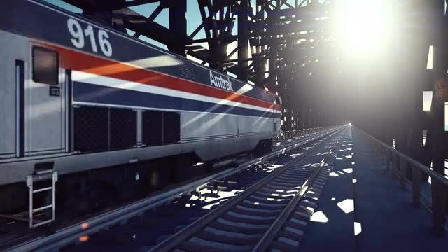High-Speed Train: Stock Motion Graphics