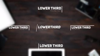 52 Lower Thirds: After Effects Templates