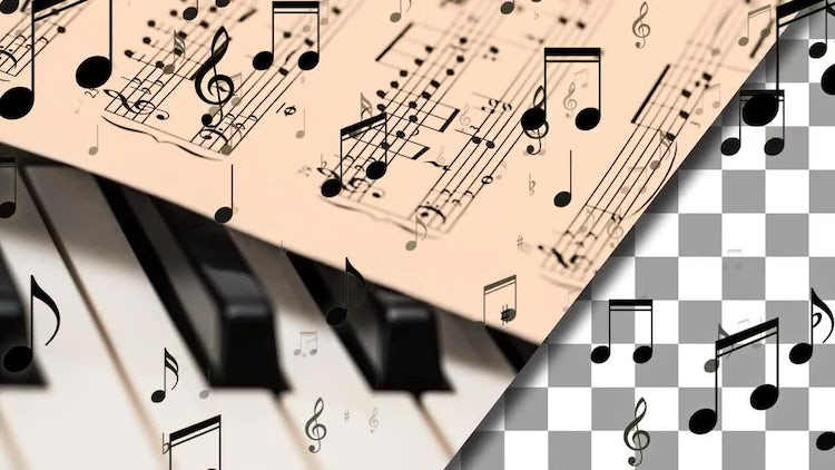 Music Notes Looping Overlay Pack: Stock Motion Graphics