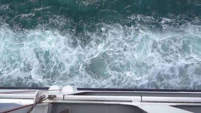 Riding On A Ferry: Stock Video