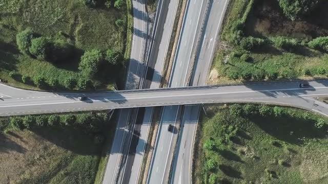 Traffic Aerial: Stock Video