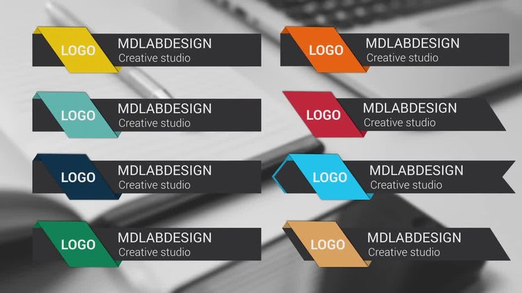 Corporate Colorful Lower Thirds: After Effects Templates