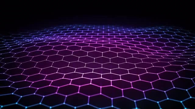 Hex Grid Light Background: Stock Motion Graphics
