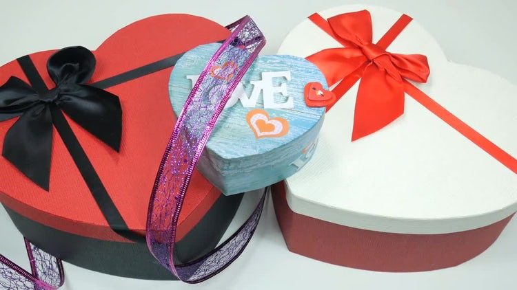Heart-Shaped Gifts: Stock Video