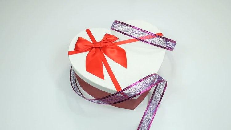 White Gift Box: Stock Video