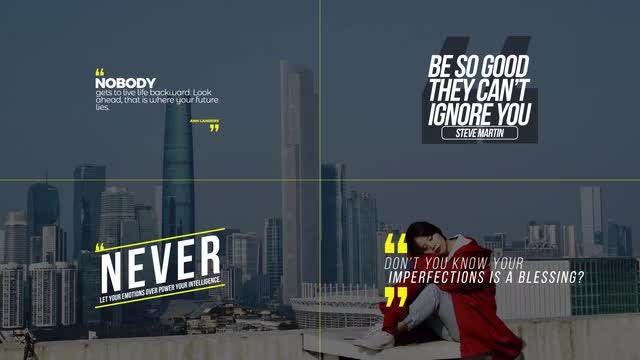 Modern Quotes: After Effects Templates