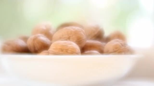 Walnuts In Bowl: Stock Video