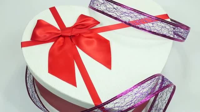 Heart-Shaped Gift Box: Stock Video