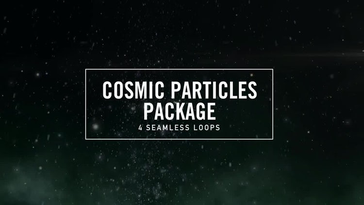 Cosmic Particles: Motion Graphics