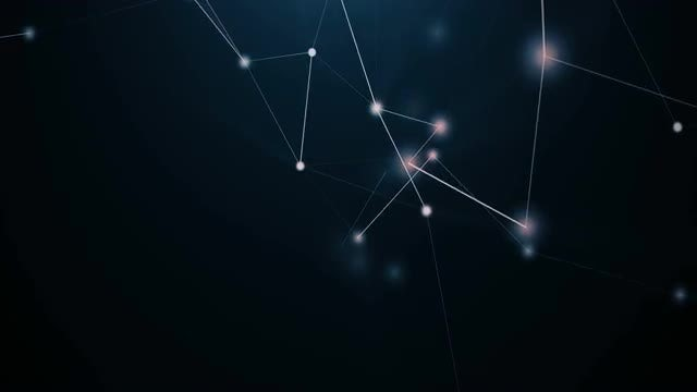 Dark-Blue Plexus Background: Stock Motion Graphics