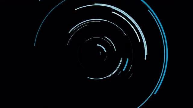 Blue Arcs Circle Burst Overlay: Stock Motion Graphics