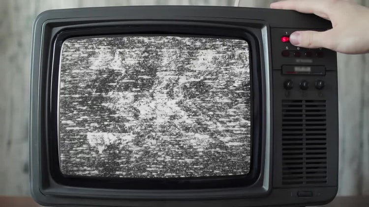 Static On TV - Stock Video   Motion Array
