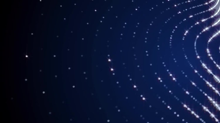 Sparkle Particle Waves: Motion Graphics
