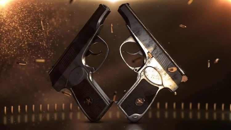 Gun And Bullet: Stock Motion Graphics