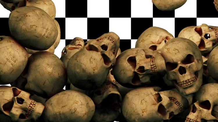 Falling Skulls Transition: Stock Motion Graphics
