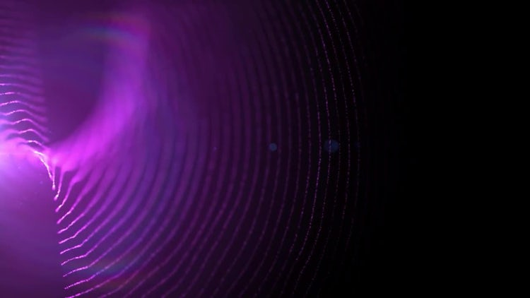 Twisted Particle Lines: Motion Graphics
