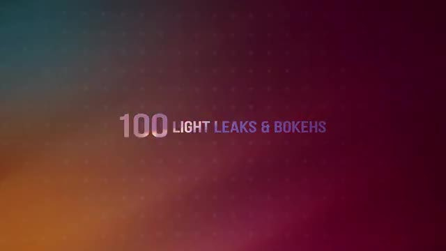 100 Light Leaks & Bokehs: Stock Video