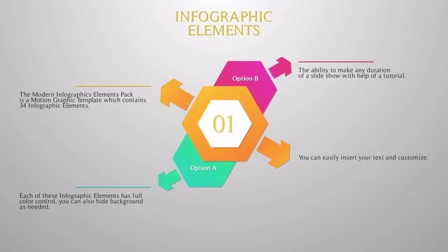 Modern Infographic Elements - Motion Graphics Templates