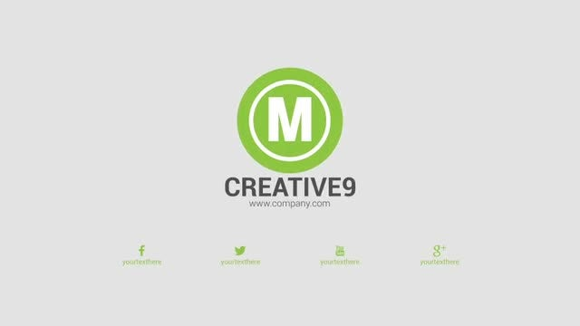Flat Elegant Logo Opener: After Effects Templates