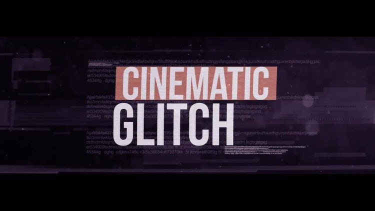 Cinematic Glitch: After Effects Templates