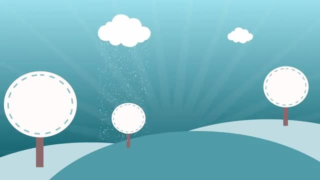 Kids' Winter Background: Stock Motion Graphics