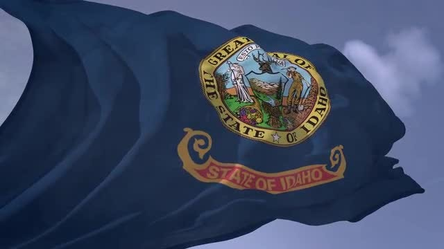 Idaho Flag: Stock Motion Graphics