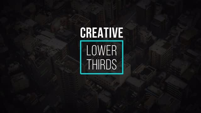 Creative Lower Thirds: After Effects Templates