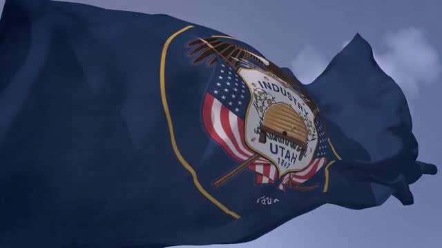 Utah Flag: Stock Motion Graphics