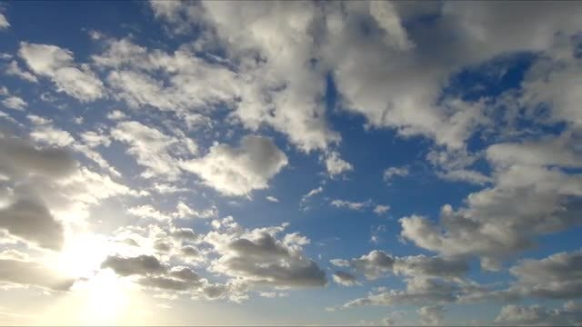 Time-Lapse Of Clouds: Stock Video